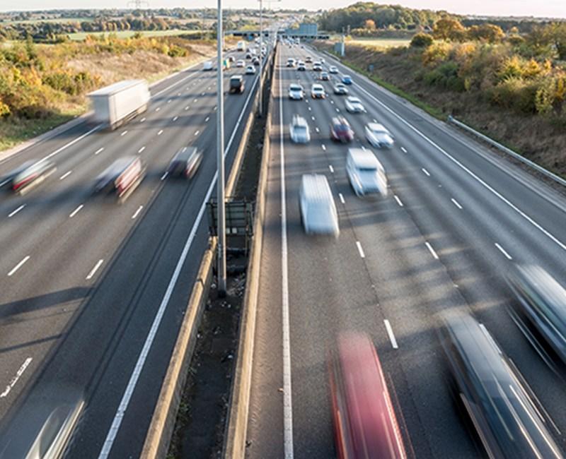 fleet vehicle on busy road