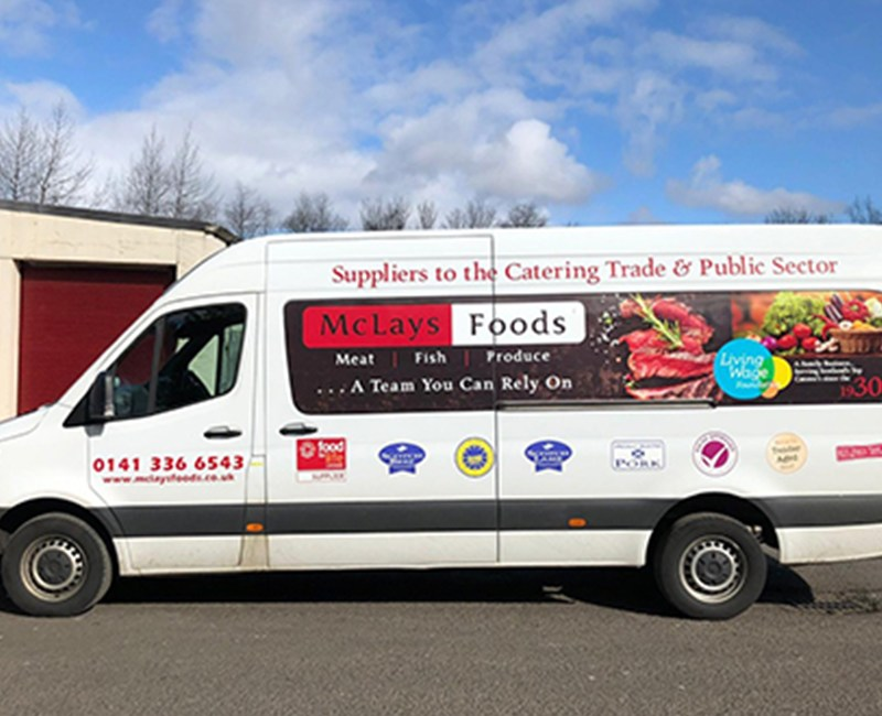 Mclays food distribution van